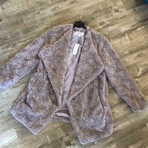 BB Dakota Tucker Tan Faux Fur Teddy Bear Jacket